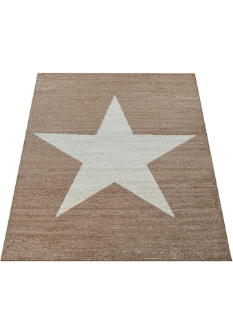 Paco Home Teppich »Fiesta 116«, rechteckig, 12 mm Höhe, Kurzflor mit Stern Motiv,... kaufen
