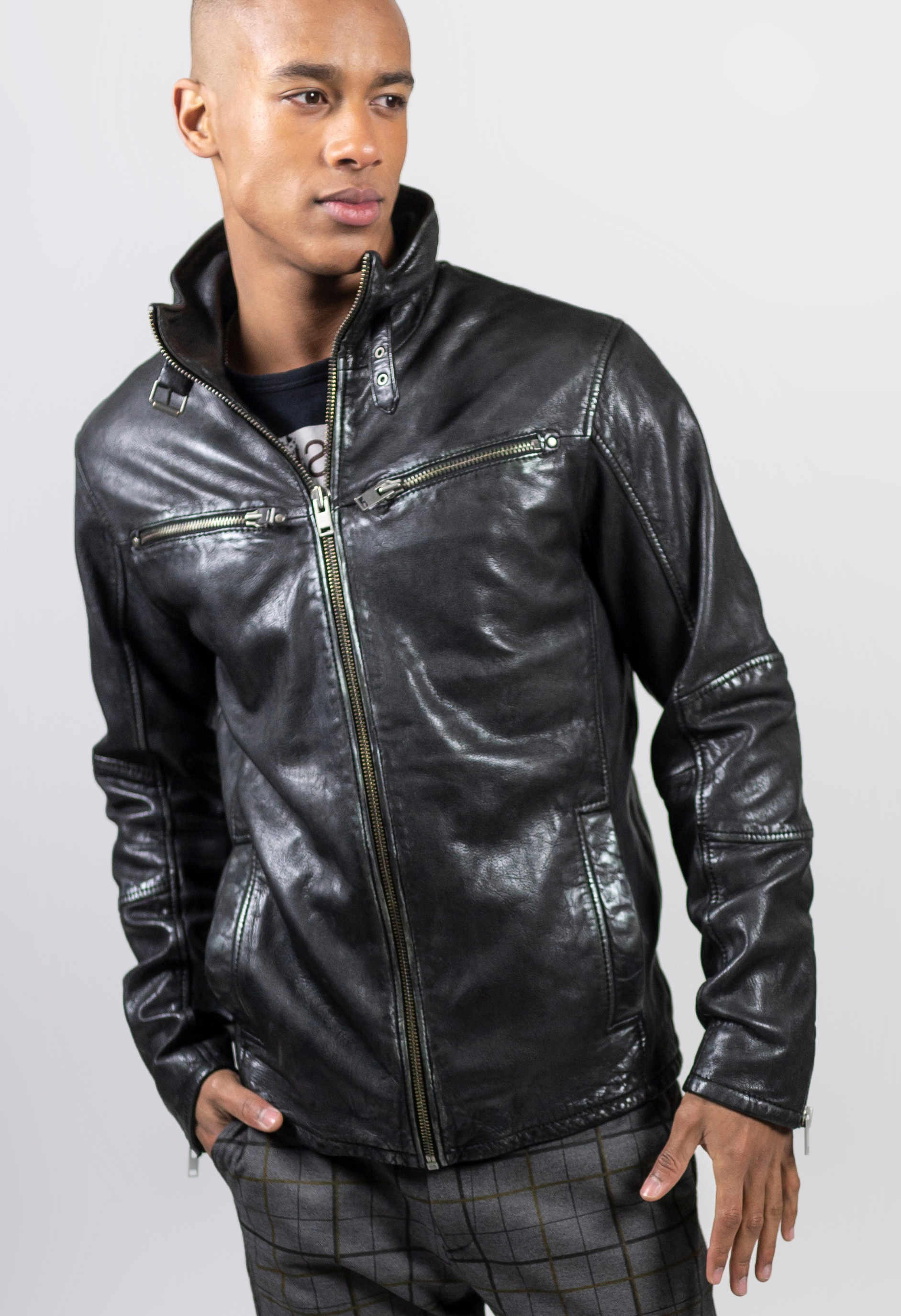 Freaky Nation Lederjacke »Messenger«