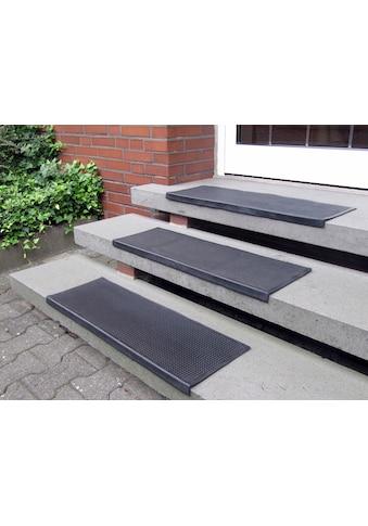Andiamo Stufenmatte »Gummi«, rechteckig, 7 mm Höhe, Gummi-Stufenmatten, Treppen-Stufenmatten, In- und Outdoor geeignet, 5 Stück in einem Set kaufen