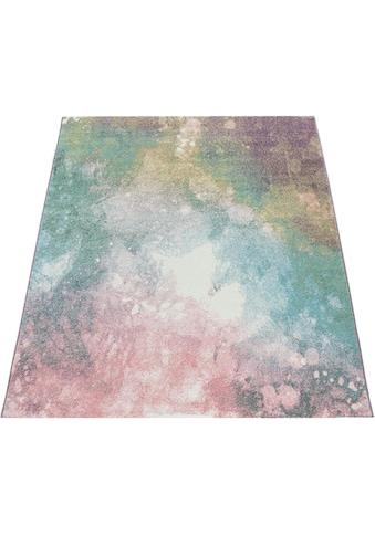 Paco Home Teppich »Mero 100«, rechteckig, 17 mm Höhe, Kurzflor, Pastell-Farben, Used-Optik, Wohnzimmer kaufen