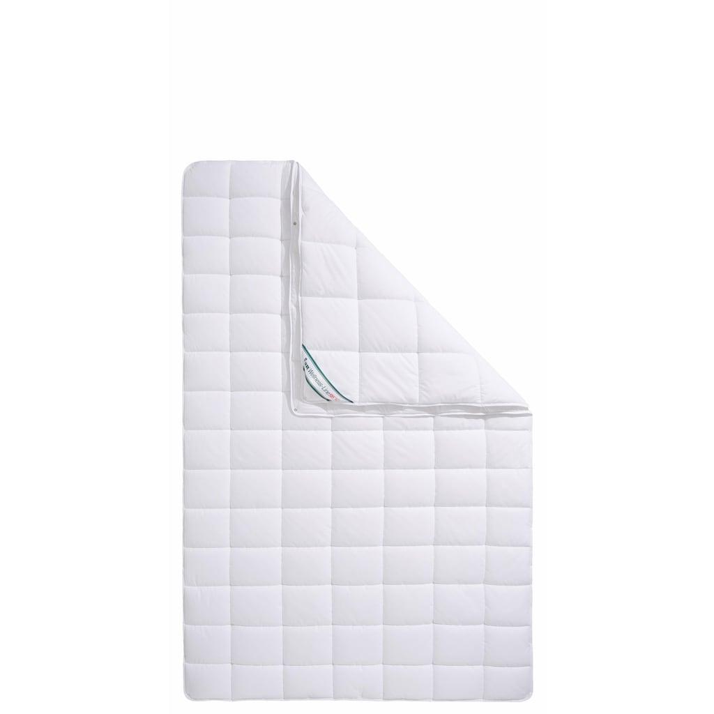 f.a.n. Schlafkomfort Kunstfaserbettdecke »Wellness Line«, 4-Jahreszeiten, Bezug 100% Baumwolle, (1 St.), kochfest bis 95 °C - mit immer wieder aufschüttelbarer Faserfüllung