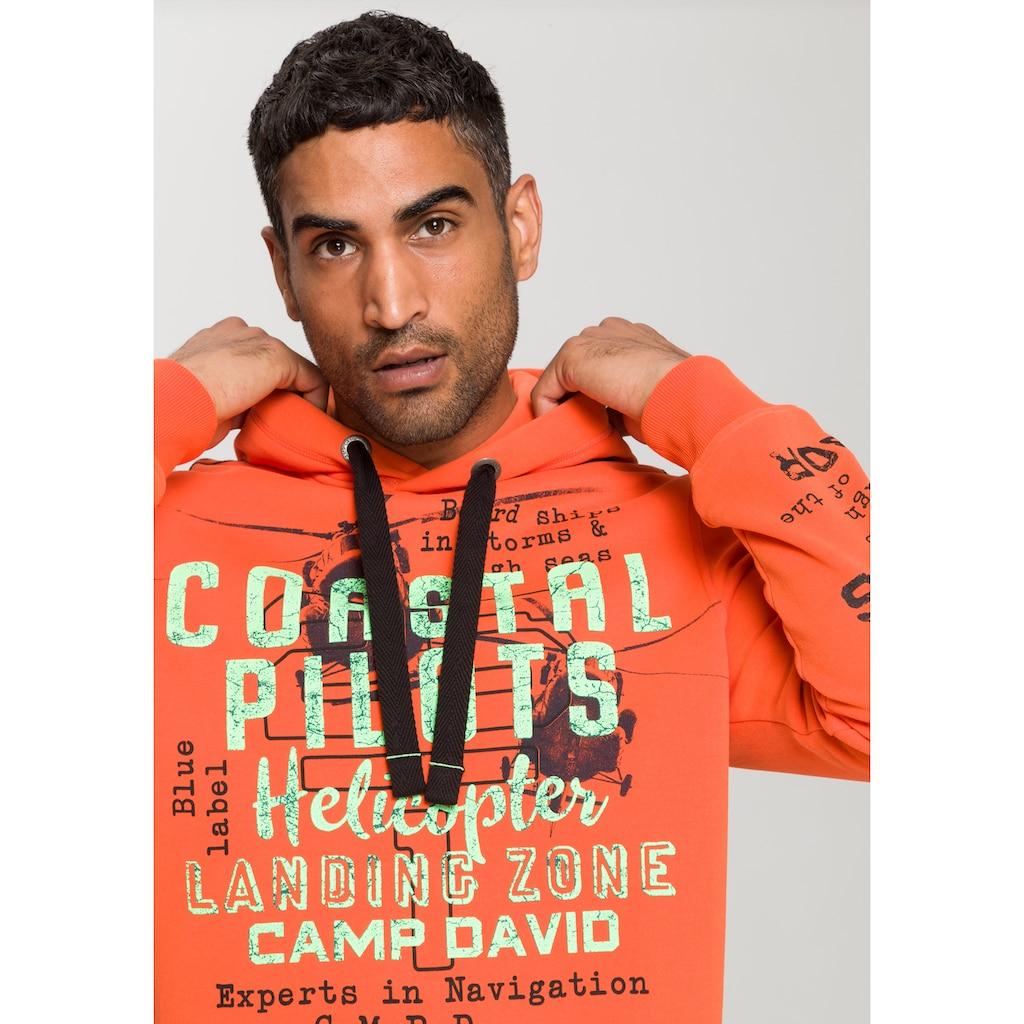 CAMP DAVID Kapuzensweatshirt, mit grossem Logofrontprint