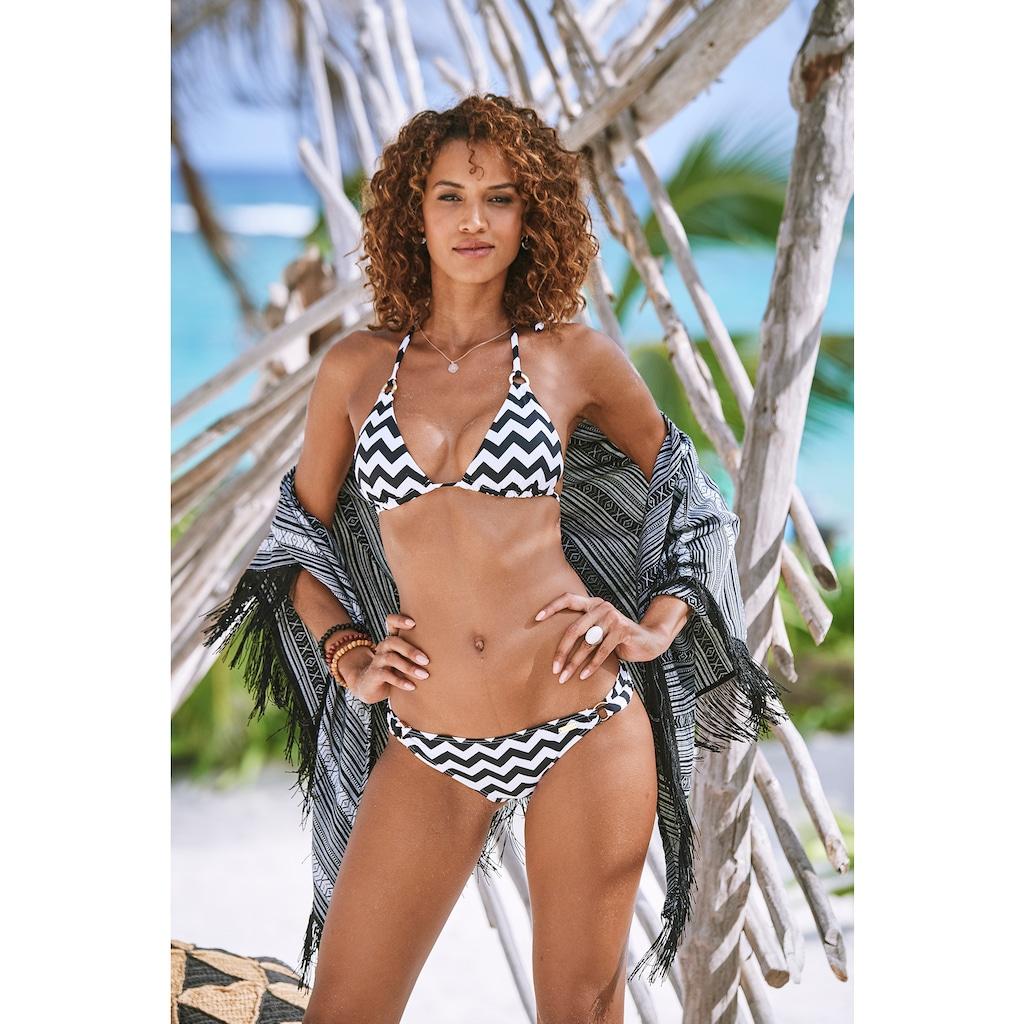 LASCANA Triangel-Bikini-Top »Grace«, mit modischen Zierringen