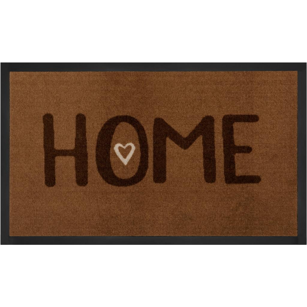 HANSE Home Fussmatte »Lovely Home«, rechteckig, 5 mm Höhe, Fussabstreifer, Fussabtreter, Schmutzfangläufer, Schmutzfangmatte, Schmutzfangteppich, Schmutzmatte, Türmatte, Türvorleger, mit Spruch, In- und Outdoor geeignet, waschbar