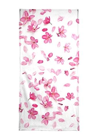 Juniqe Handtuch »Blossom Fall«, (1 St.), Weiche Frottee-Veloursqualität kaufen