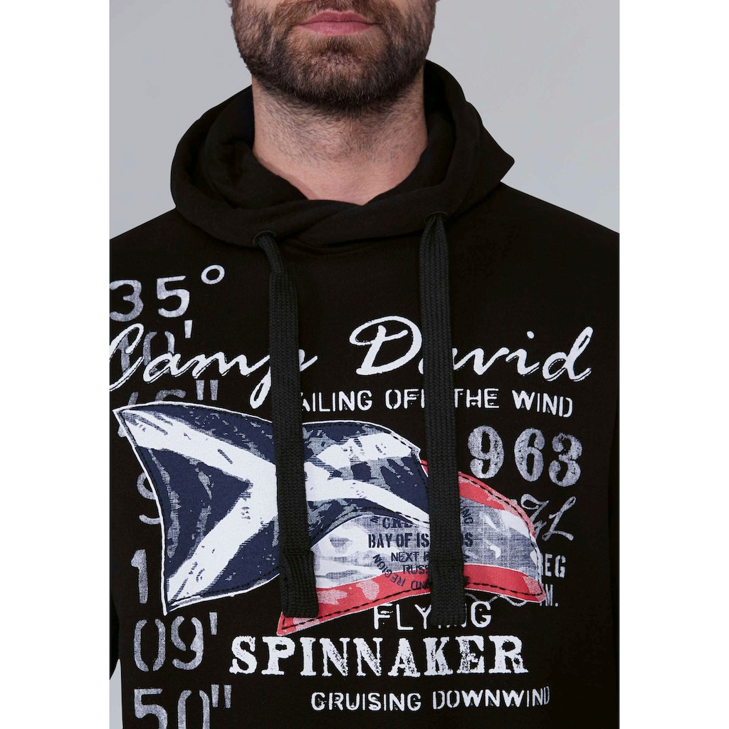 CAMP DAVID Kapuzensweatshirt, mit grossem Frontprint