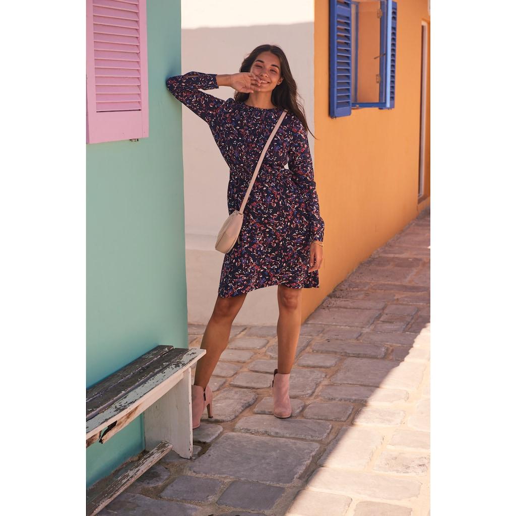 TOM TAILOR Blusenkleid, aus leicht strukturierter und wunderschön bedruckter Viskose-Qualität