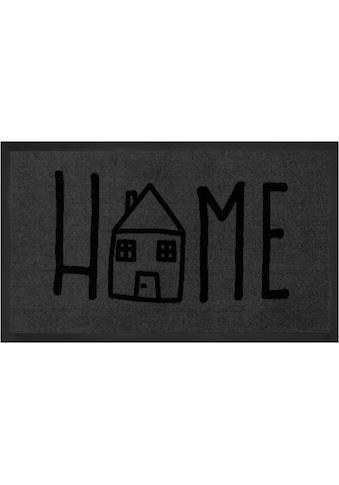 HANSE Home Fussmatte »Easy Home«, rechteckig, 5 mm Höhe, Fussabstreifer, Fussabtreter, Schmutzfangläufer, Schmutzfangmatte, Schmutzfangteppich, Schmutzmatte, Türmatte, Türvorleger, mit Spruch, In- und Outdoor geeignet, waschbar kaufen