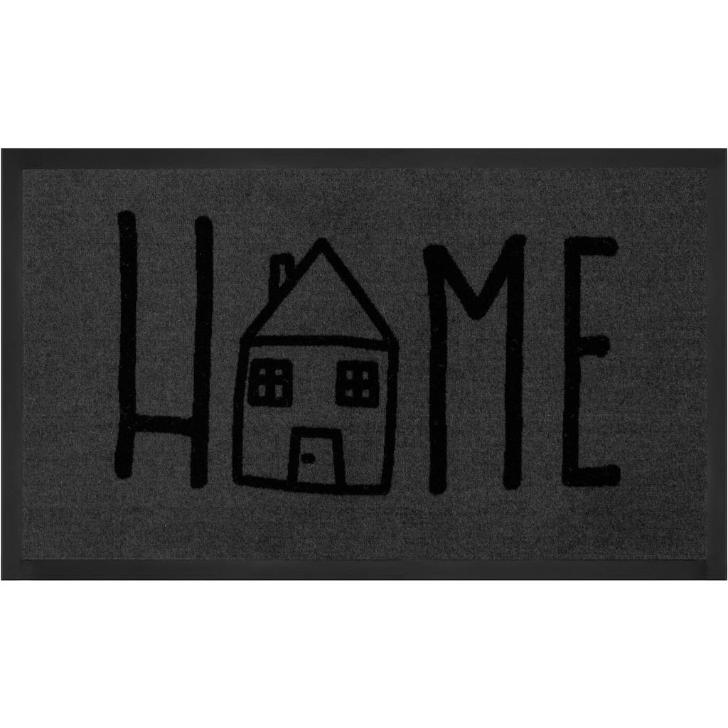 HANSE Home Fussmatte »Easy Home«, rechteckig, 5 mm Höhe, Fussabstreifer, Fussabtreter, Schmutzfangläufer, Schmutzfangmatte, Schmutzfangteppich, Schmutzmatte, Türmatte, Türvorleger, mit Spruch, In- und Outdoor geeignet, waschbar
