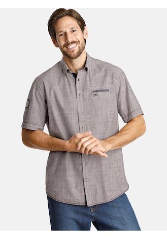 Jan Vanderstorm Kurzarmhemd »MILOS«, Trendfarbe in Leinenoptik kaufen