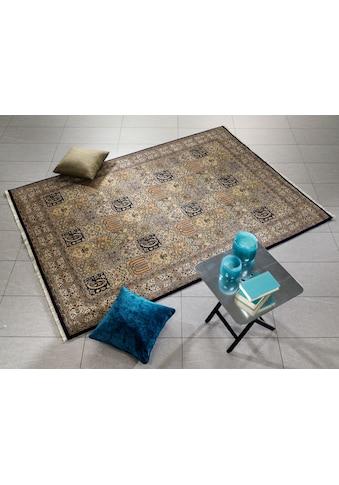 OCI DIE TEPPICHMARKE Orientteppich »Vasuki«, rechteckig, 4 mm Höhe, handgeknüpft, mit Fransen, Wohnzimmer kaufen