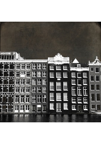 queence Holzbild »Amsterdam«, Gebäude, (1 St.) kaufen