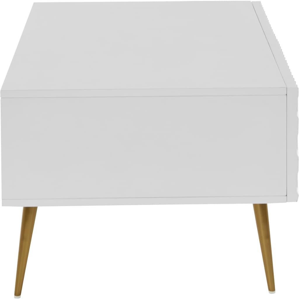 Guido Maria Kretschmer Home&Living Couchtisch »Easily«, Modernes Design, 2 Schubladen