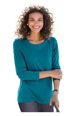 Classic Basics Shirt mit ton - in - ton - farbiger Stickerei im Ethno - Stil kaufen