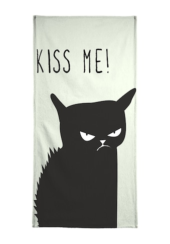 """Handtuch """"Kiss Me Cat"""", Juniqe kaufen"""