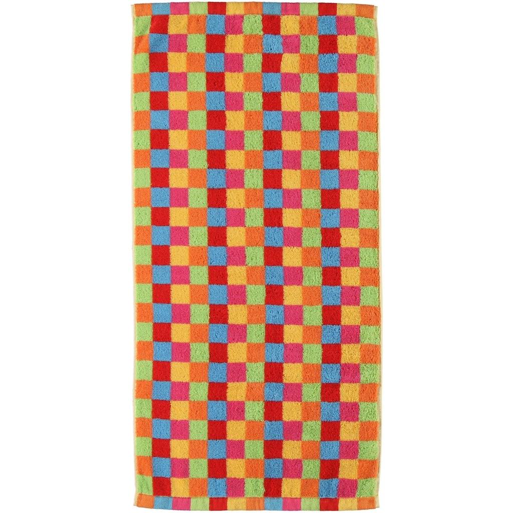 Cawö Badetuch »Lifestyle Cubes«, (1 St.), mit bunten Karos