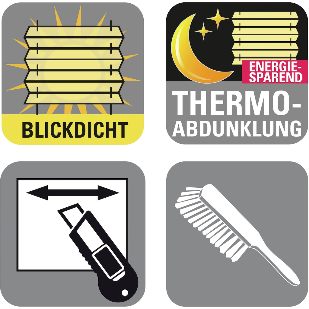 GARDINIA Plissee »Easyfix Plissee Day + Night«, verdunkelnd, energiesparend, ohne Bohren, verspannt, Fixmass