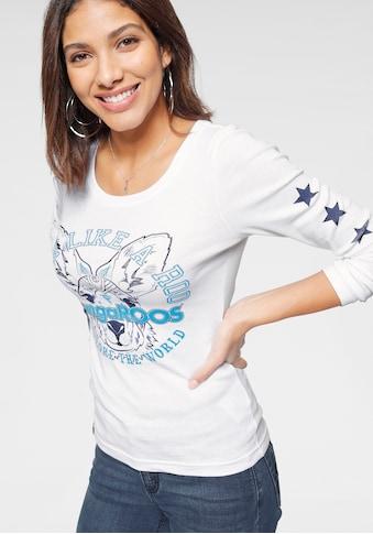 KangaROOS Langarmshirt, mit Känguru-Front-Print kaufen