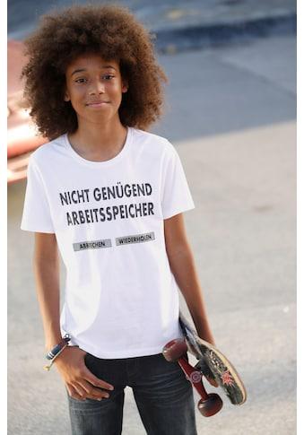 Arizona T - Shirt »Nicht genügend Arbeitsspeicher« acheter