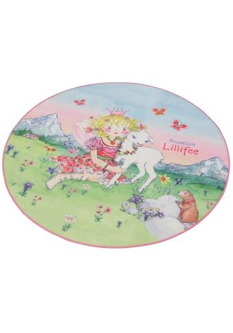 Kinderteppich, »LI - 102«, Prinzessin Lillifee, rund, Höhe 2 mm, maschinell gewebt kaufen