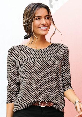 Vivance 3/4-Arm-Shirt, mit kleiner Öffnung und goldfarbenen Zierknopf am Ausschnitt kaufen
