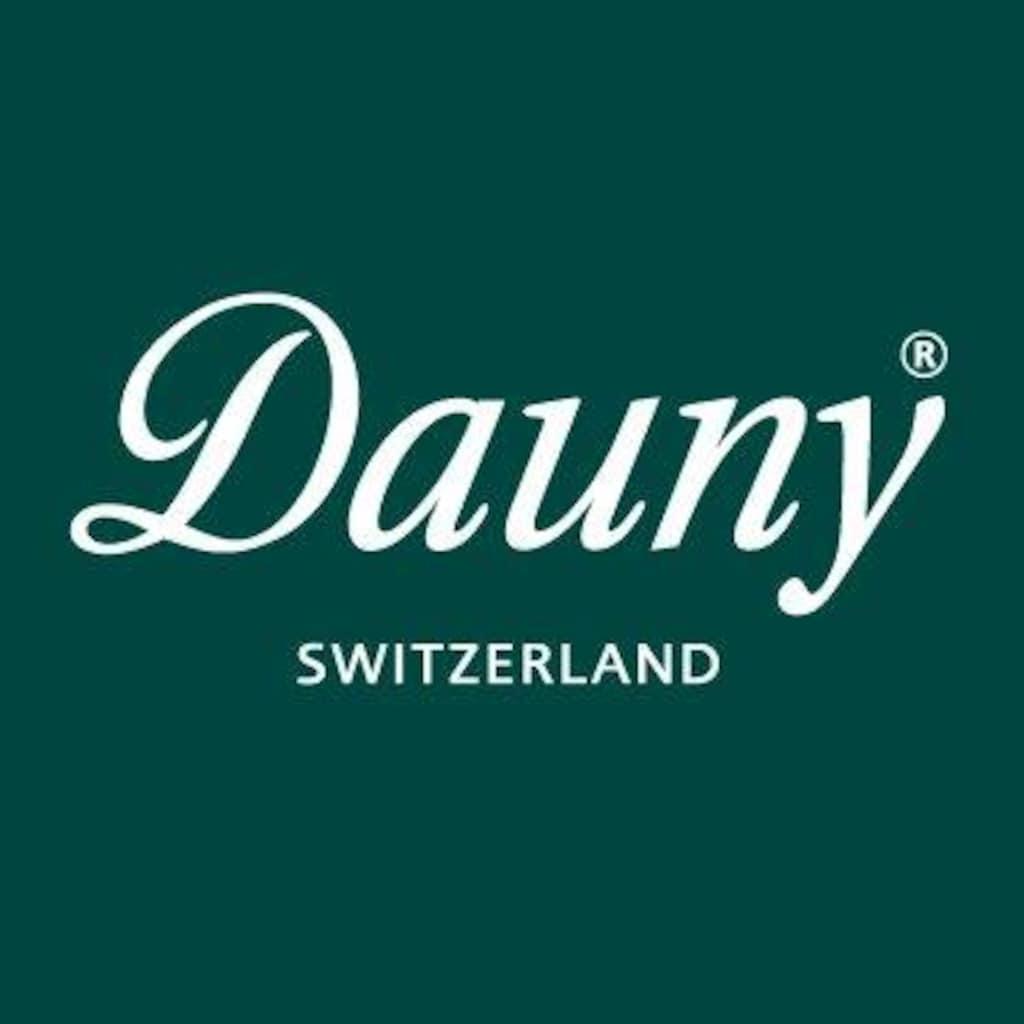 Dauny Daunenbettdecke »Dauny, Daunenduvet »Dauny White««, Füllung 100% neue, reine, europäische, besonders grossflockige Gänsedaunen, weiss. VSB-Norm, Bezug Feinster Schweizer Batist, 100% Baumwolle, (1 St.)