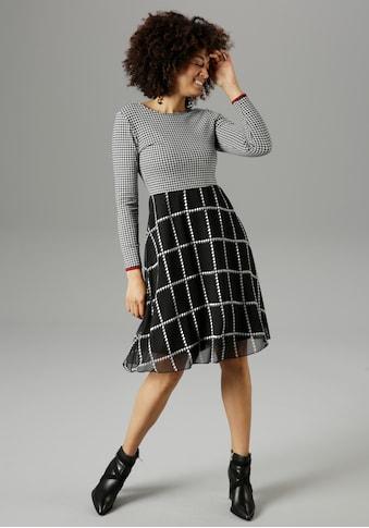 Aniston SELECTED Karokleid, mit Hahnentritt-Muster - NEUE KOLLEKTION kaufen