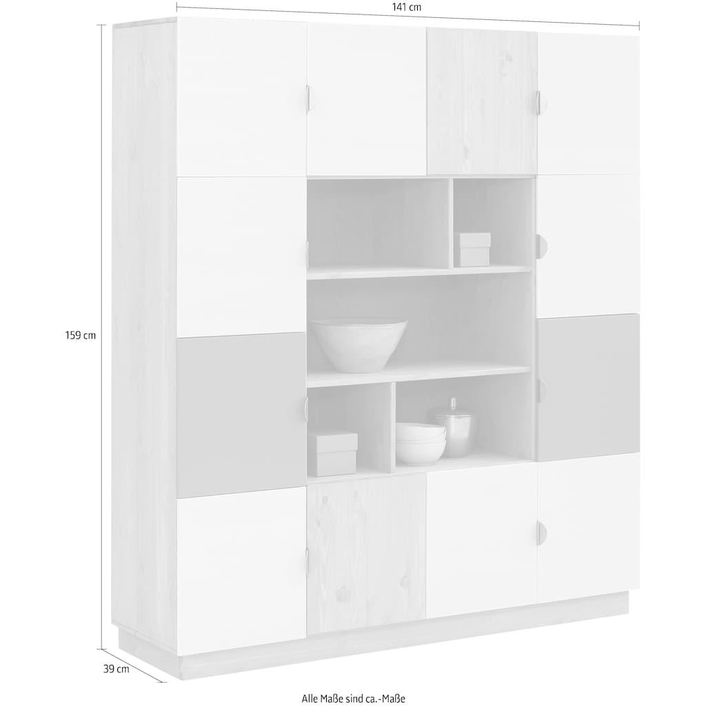 my home Regal »Undine«, mit 12 Türen, 141cm breit