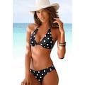 LASCANA Bügel-Bikini-Top »Jada«, mit Muschelkante und Punktedesign