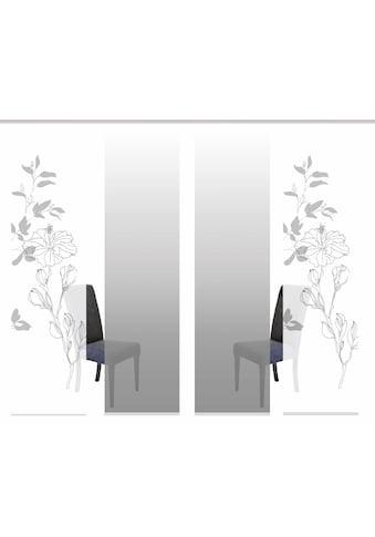 HOME WOHNIDEEN Schiebegardine »DENVER«, HxB: 245x60, inkl. Befestigungszubehör kaufen