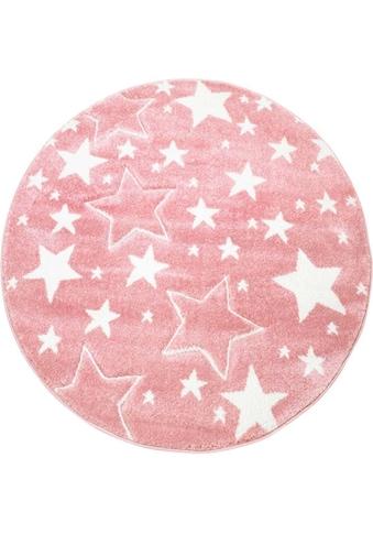 Carpet City Kinderteppich »Bueno Kids 1325«, rund, 13 mm Höhe, Sterne,... kaufen