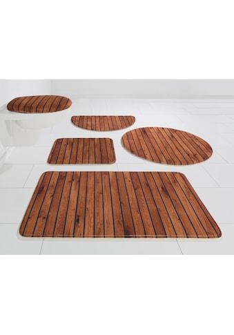 my home Badematte »Holzoptik«, Höhe 14 mm, rutschhemmend beschichtet kaufen
