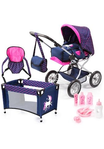 Bayer Kombi-Puppenwagen »Grande, Blau/Pink« kaufen