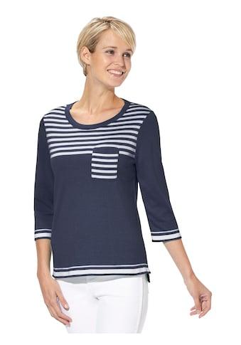 Casual Looks Pullover mit lässigen Streifenpartien kaufen