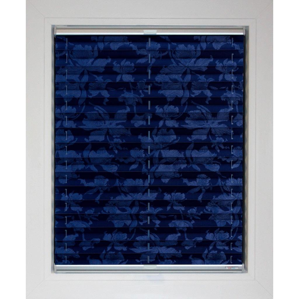 sunlines Plissee nach Mass »Blue Line«, Lichtschutz, energiesparend, mit Bohren, verspannt, Blüten-Muster