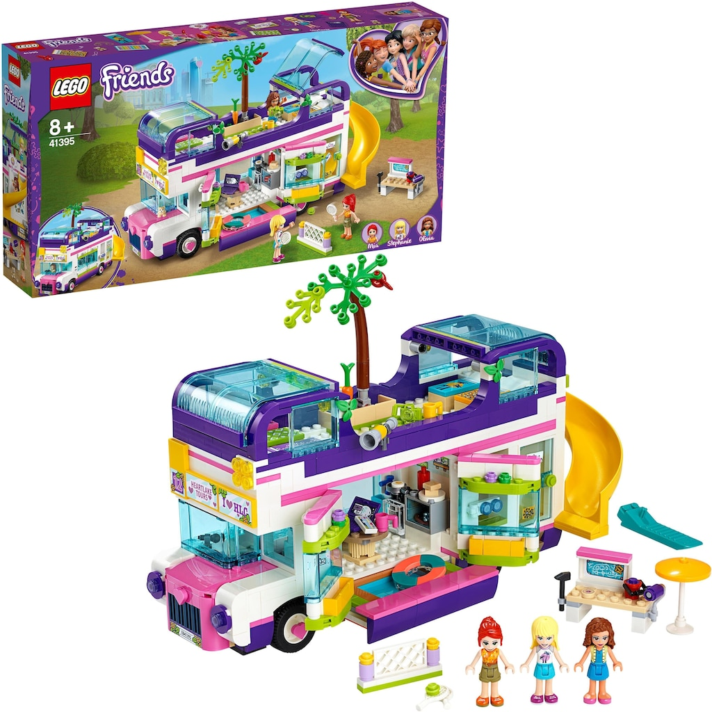 "LEGO® Konstruktionsspielsteine ""Freundschaftsbus (41395), LEGO® Friends"", Kunststoff, (778-tlg.)"