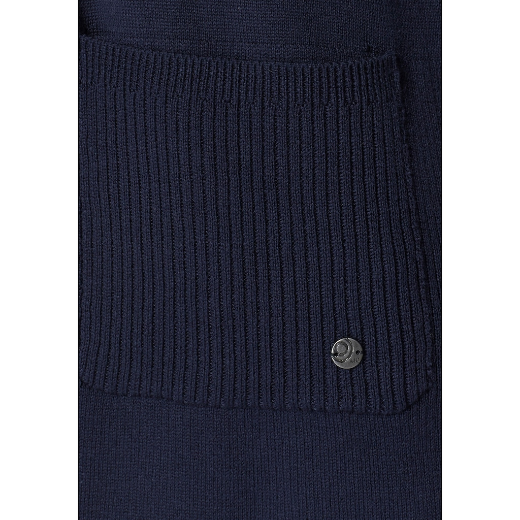 AJC Strickjacke, ohne Verschluss mit breiten Ripp-Bündchen