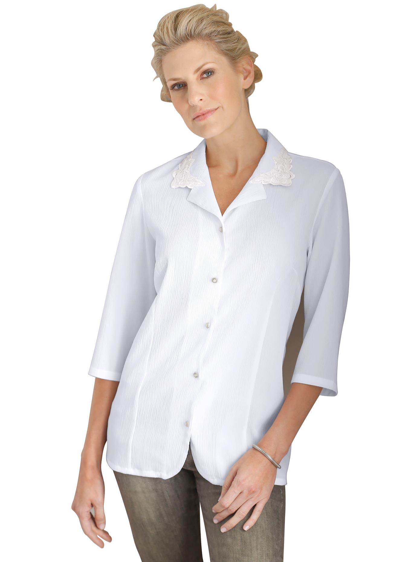 Image of Classic Basics Bluse in bügelleichter Crinkle-Qualität