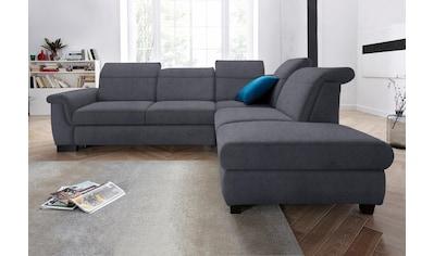 DOMO collection Ecksofa »Sully«, wahlweise mit Bettfunktion und Rückenverstellung kaufen