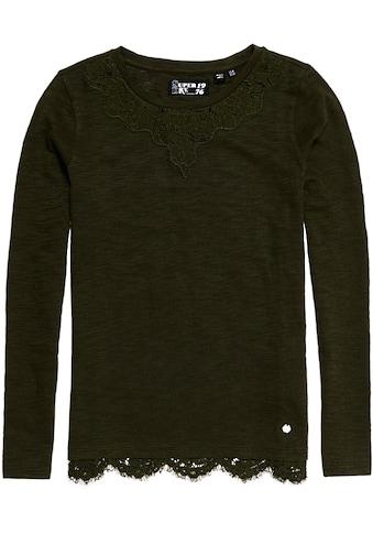 Superdry Langarmshirt »ELLIS LACE LS TOP« kaufen