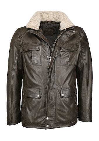 MUSTANG Lederjacke »31019263-FF«, mit vielen Taschen kaufen