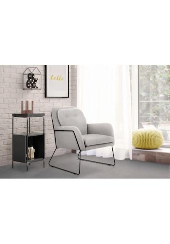 INOSIGN Sessel »Flin«, mit Knöpfen und Kissenoptik im Rücken kaufen