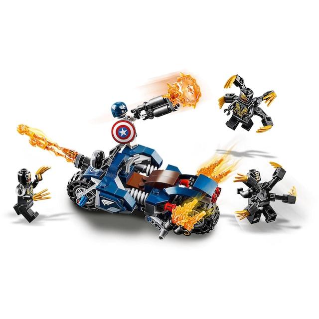 "LEGO® Konstruktionsspielsteine ""Captain America: Outrider Attacke (76123), LEGO® Marvel Super Heroes™"", Kunststoff, (167-tlg.)"