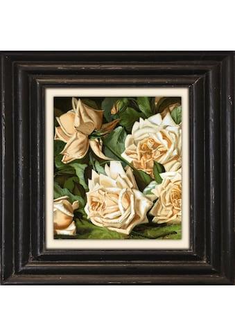 Holzbild »Weisse Rosen« kaufen