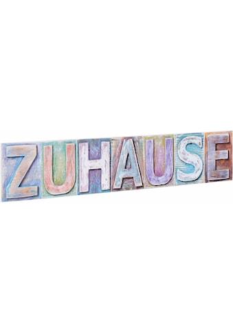 Home affaire Dekoobjekt »Zuhause«, Masse (B/H): ca. 60/13 cm kaufen