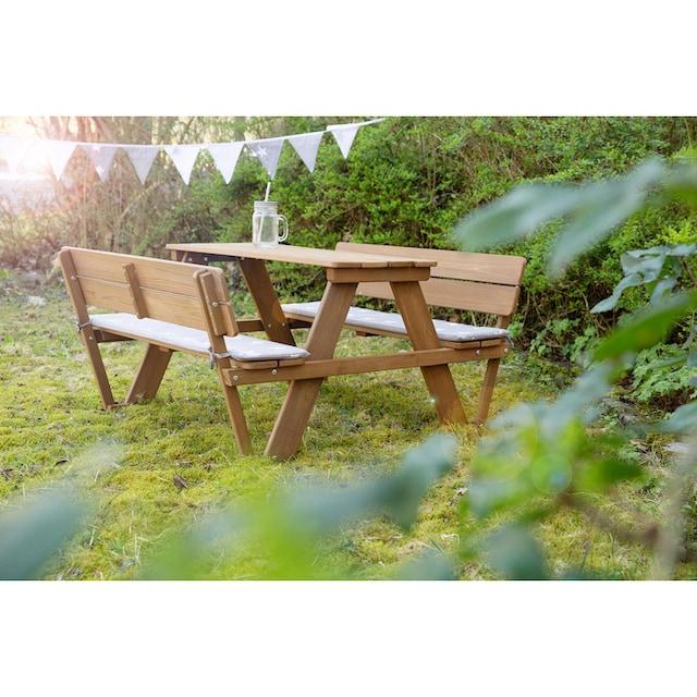roba® Kindersitzgruppe »Picknick for 4 Outdoor Deluxe, Teakholz« (Set, 1-tlg)