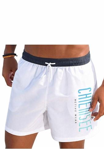 Chiemsee Badeshorts, mit kontrastfarbenem Bund kaufen