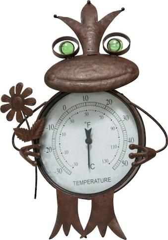 Schneider Gartenfigur »Frosch«, (1 St.), Thermometer, Rost kaufen