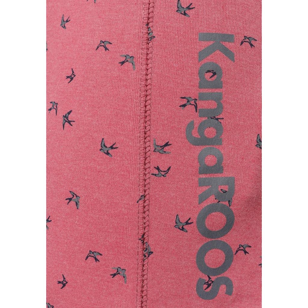 KangaROOS Jerseykleid, mit maritimen Anker-Alloverprint