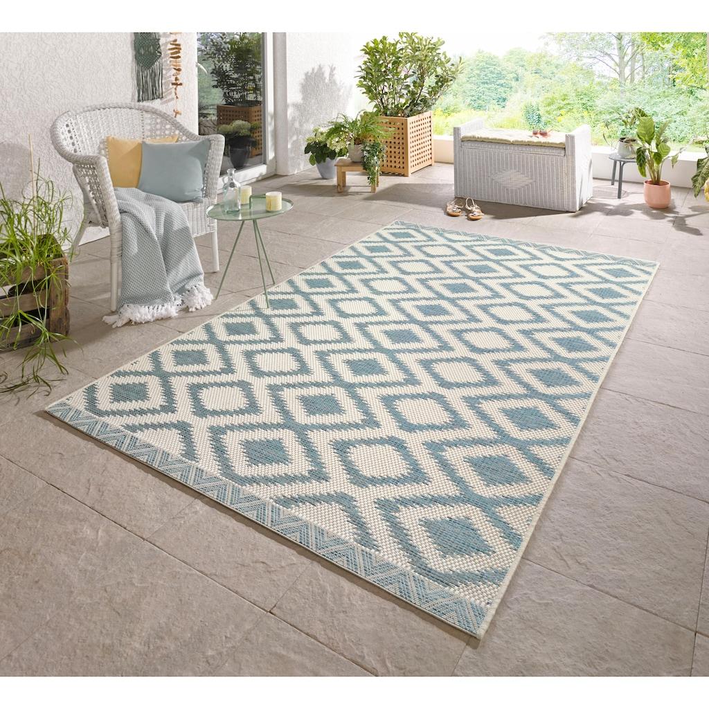 bougari Teppich »Isle«, rechteckig, 4 mm Höhe, Flachgewebe, In- und Outdoor geeignet, Wohnzimmer